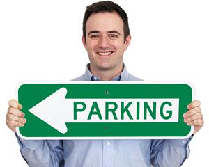 Arrow Parking Sign