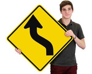 Arrow Curve Ahead Signs