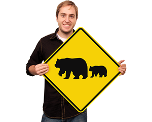 Bear Crossing Signs