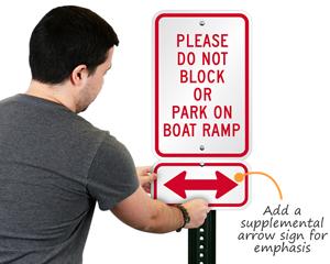 Bi-directional arrow sign