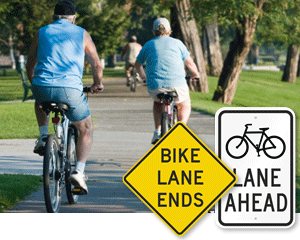 Bike Lane Signs