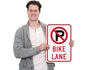 No Parking Bike Lane Signs
