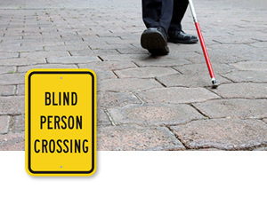 Blind Person Crossing Signs