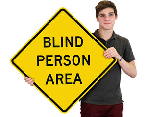 Blind Person Area Signs