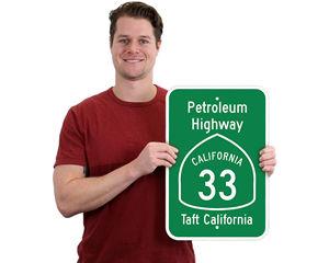 Custom Highway Road Signs