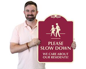 Custom Pedestrian Designer Signs