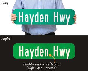 Custom reflective street signs