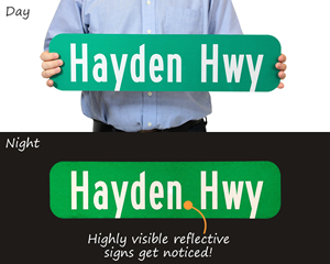 Custom reflective street signs