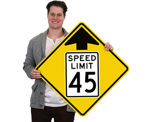 Speed Limit Ahead Custom Signs