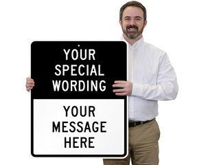 Custom Split Road Traffic Signs