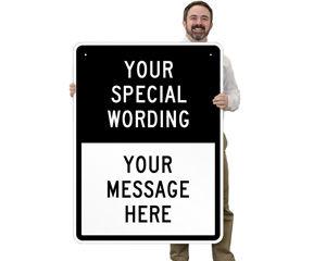 Customizable Split Traffic Signs Template