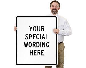 Customizable Vertical Traffic Sign Templates