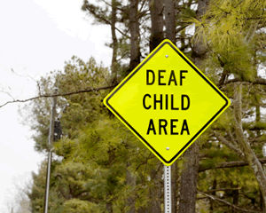Deaf Child Area Signs