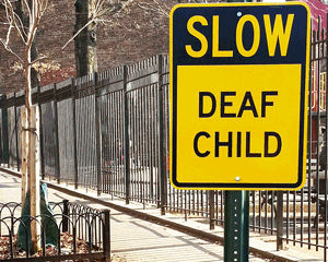 Deaf child sign