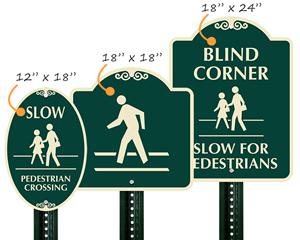Designer Pedestrian Signature Signs