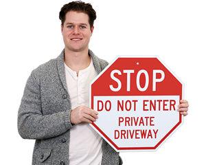 Do Not Enter Stop Sign