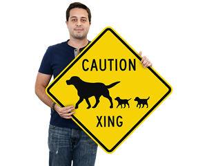 Dog Crossing Symbol Signs