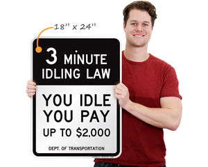 DOT No Idling Sign