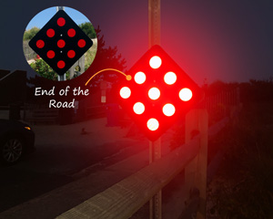 End of road sign