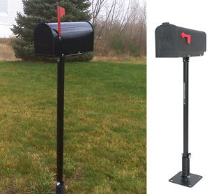 Flexible Steel Post for Mailbox