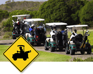 Golf Cart Crossing Signs