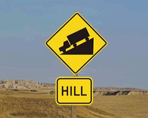 Hill Warning Signs