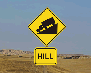 Hill Warning Signs