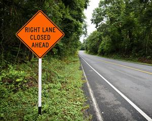 Lane Closed Signs