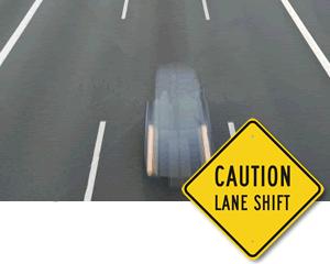 Lane signs