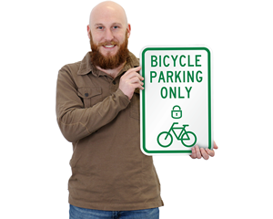Lock Your Bike Signs