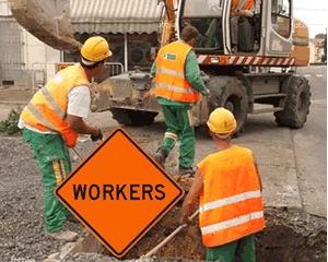 Men at Work Road Traffic Signs