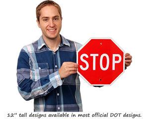 Mini stop traffic signs