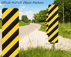 MUTCD object markers and chevron signs