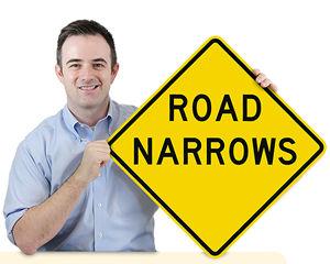 Narrow Road Signs