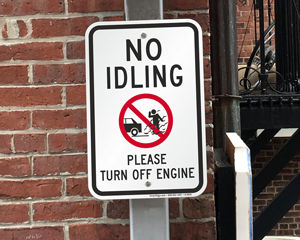 No idling turn off engine signs