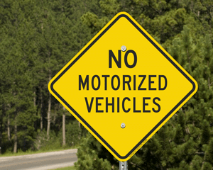 No motorized vehicles