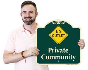 Designer No Outlet Sign