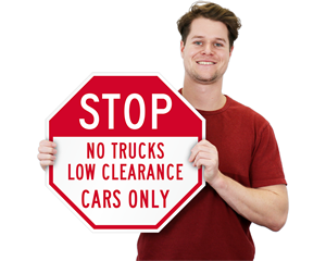 STOP - No Trucks Signs