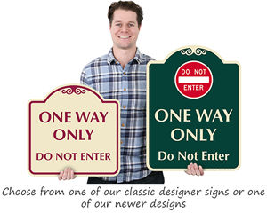One Way, Do Not Enter Signature Signs