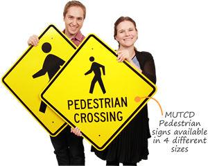 Pedestrian crossing signs