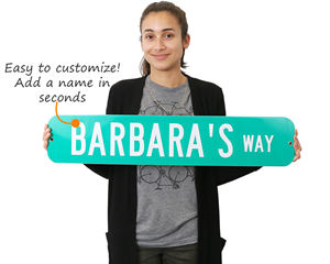 Personalized street signs