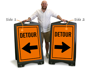 Portable detour sign
