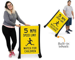 Portable traffic signs