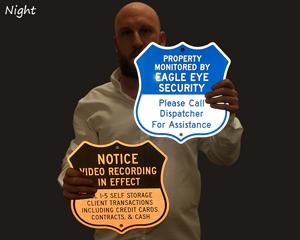 Reflective Custom Shield Sign Templates