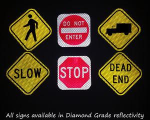 Reflective mini traffic signage
