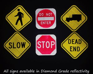 Reflective mini traffic signage