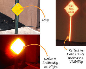 Reflective Delineators and Post Panels