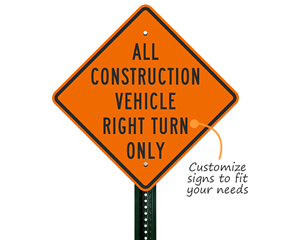 Road construction sign