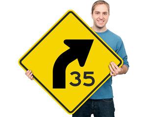 Road Warning Curv Signs