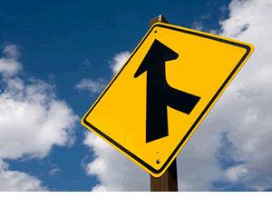 Side Road Sign